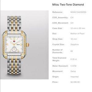 Michelle-Milou Two Tone Diamond Watch